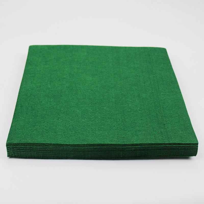 Folha feltro 30x45x3.5mm verde