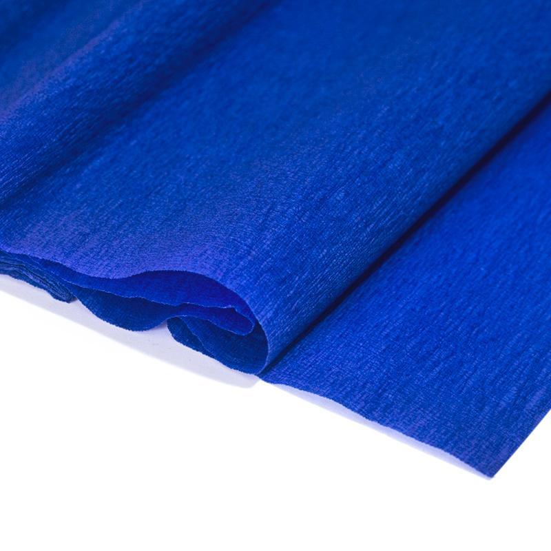 Papel Crepe Azul Rolo 0.5x2.5m