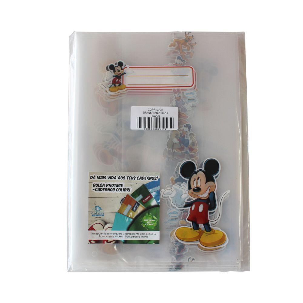 Bolsa forra livros 32x49 Disney Mickey / Minnie