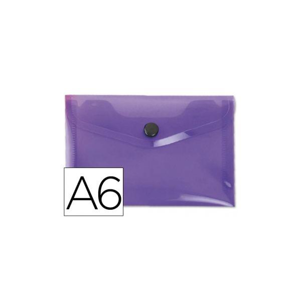 Bolsa Porta Documentos A6 c/ Mola Violeta
