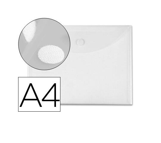 Bolsa Porta Documentos A4 c/ Velcro Transparente