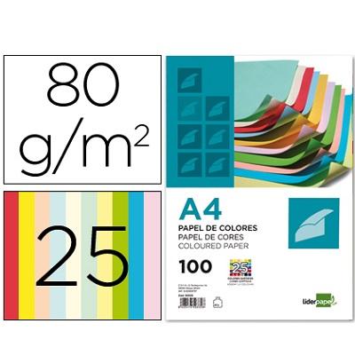 Papel A4 80g 25 cores (100fls)