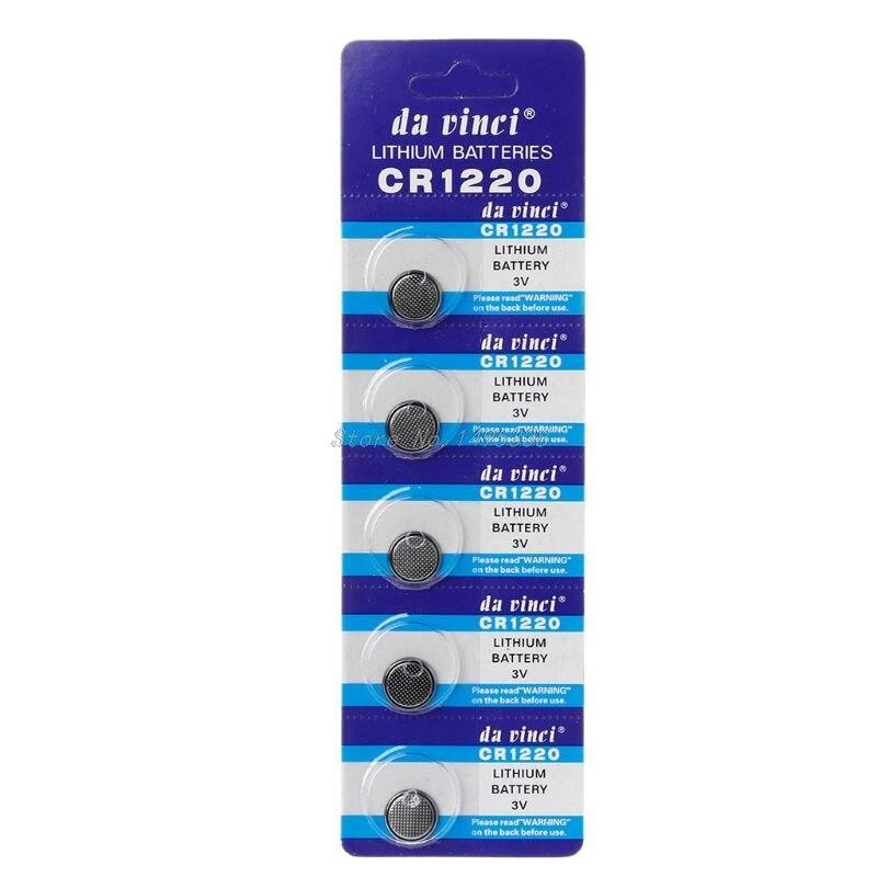 Pilha CR1220 Lithium p/ calculadora (5)
