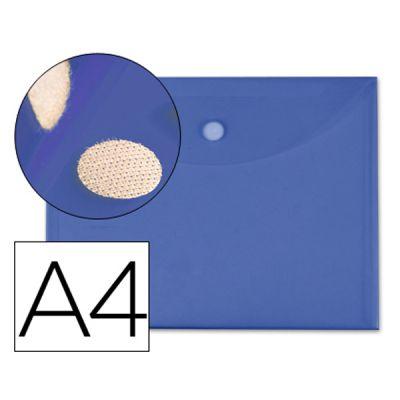 Bolsa Porta Documentos A4 c/ Velcro Azul
