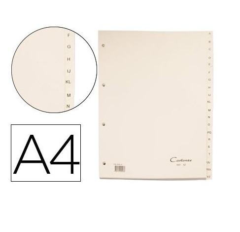 Separadores A4 Cartolina A-Z