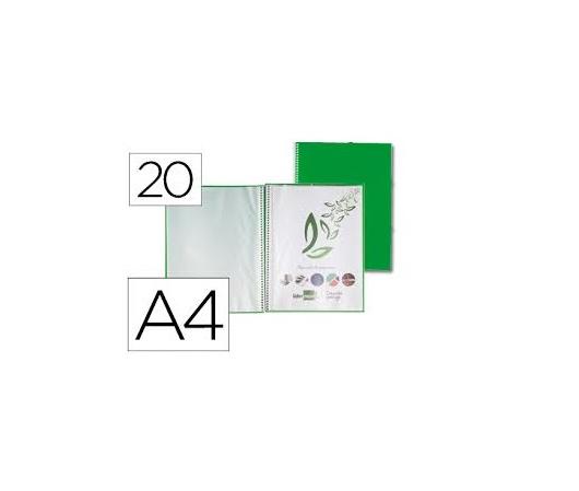 Capa Catalogo 20 Bolsas c/ Espiral Verde