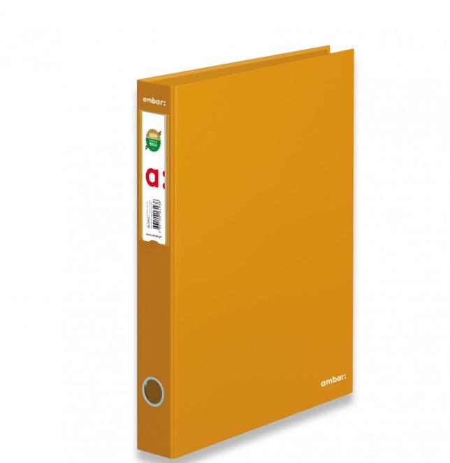 Pasta Arquivo A4 Estreita (L40) Ambar Amarelo