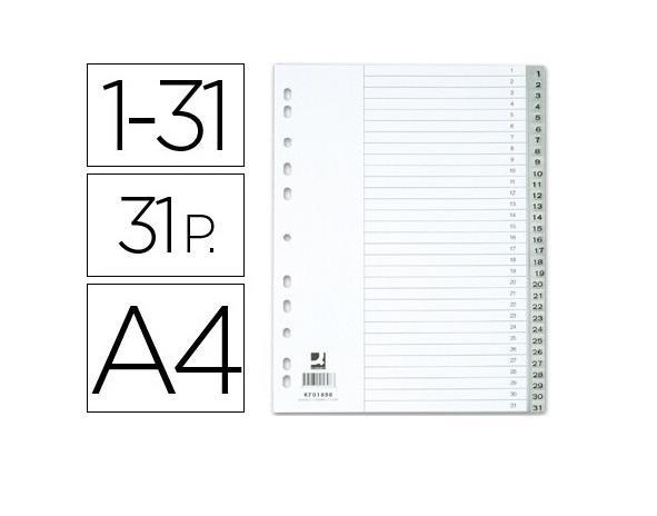 Separadores A4 Plastico 1-31