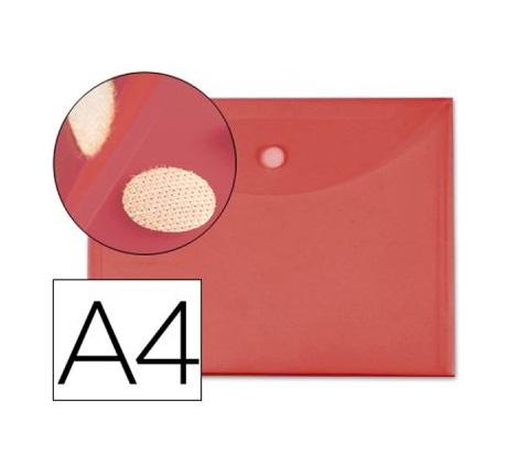 Bolsa Porta Documentos A4 c/ Velcro Vermelho