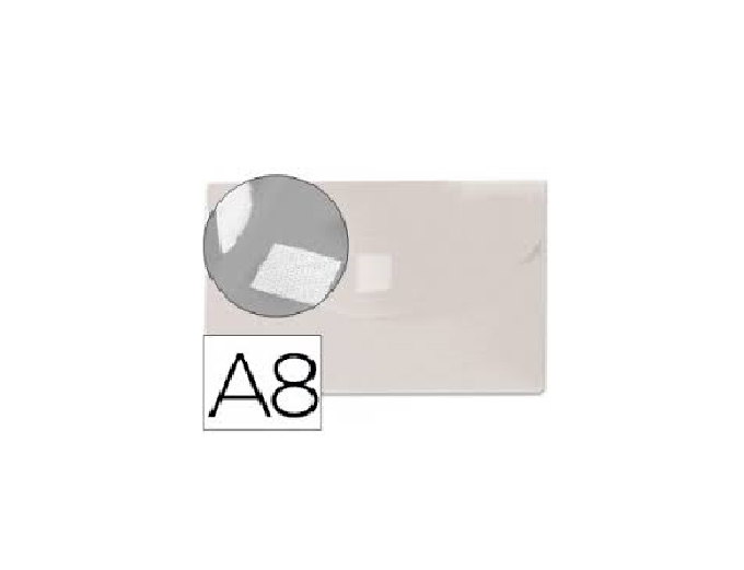 Bolsa Porta Documentos A8 c/ Velcro Transparente