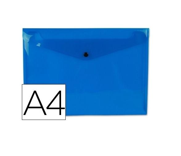 Bolsa Porta Documentos A4 c/ Mola Azul