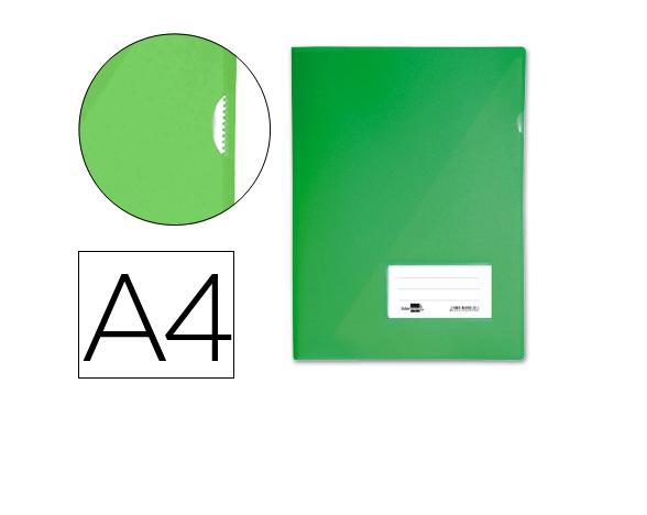 Bolsa Dossier A4 c/ Porta Etiquetas Verde