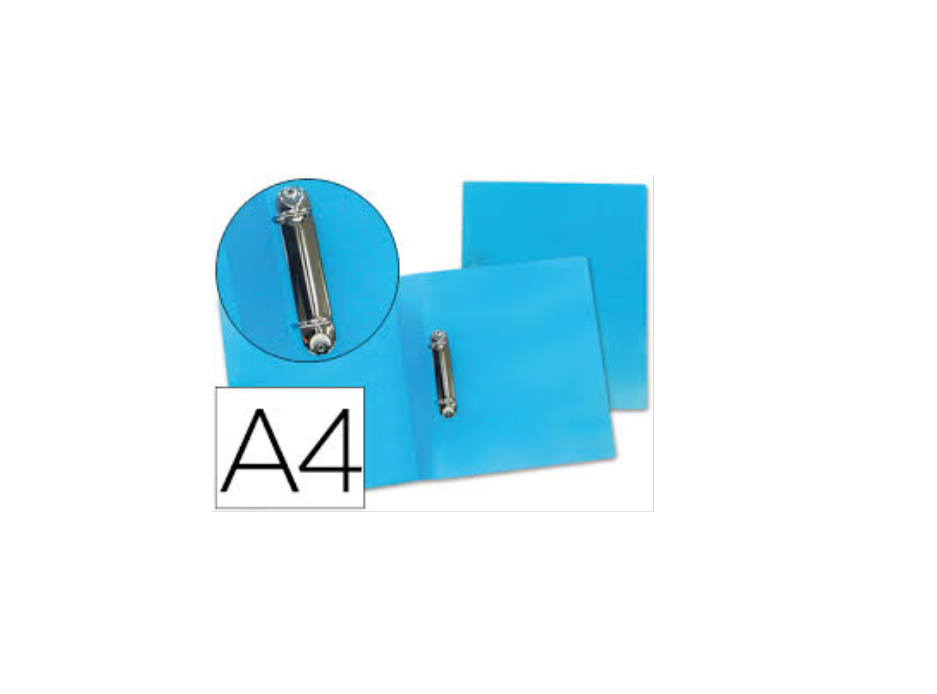 P. Arq. PP A4 25mm 2 Aneis Azul