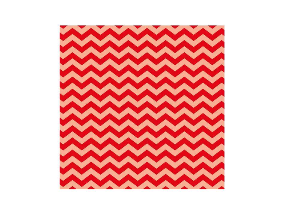 Cartolina Chevron Vermelho 300g