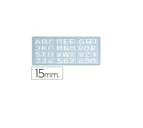 Escantilhao letras e numeros 15mm (altura da letra)