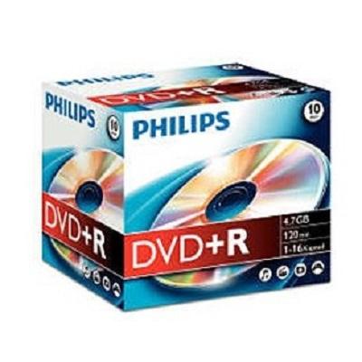 DVDR+ Philips (Caixa c/ 10)
