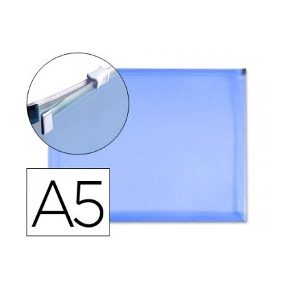 Bolsa Porta Documentos A5 c/ Fecho Zip Azul