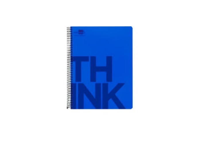 Caderno A7 Espiral 100fls Pautado Azul