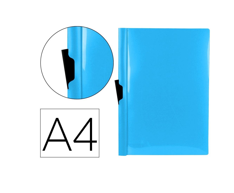 Bolsa Dossier A4 c/ Clip Lateral 30fls Azul