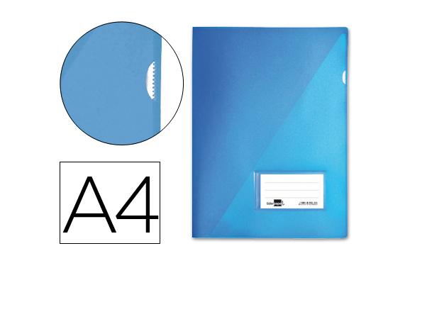 Bolsa Dossier A4 c/ Porta Etiquetas Azul