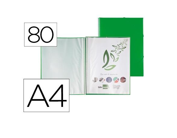 Capa Catalogo 80 Bolsas c/ Espiral Verde c/ Elastico