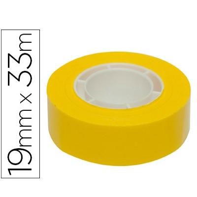 Fita Ad. 19mmx33m Amarelo (1 rolo)