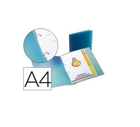 P. Arq. PP A4 17mm 2 Aneis Azul
