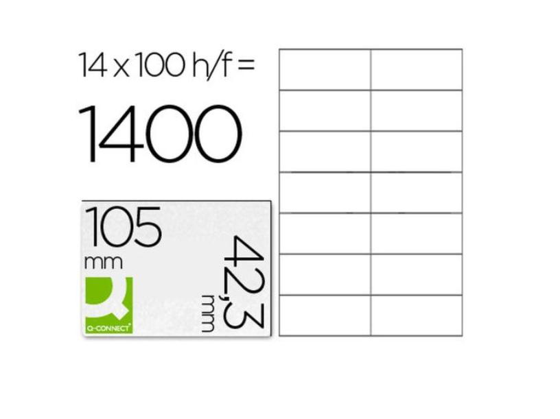 A4 105x42.3mm (14) Branco (100fls)