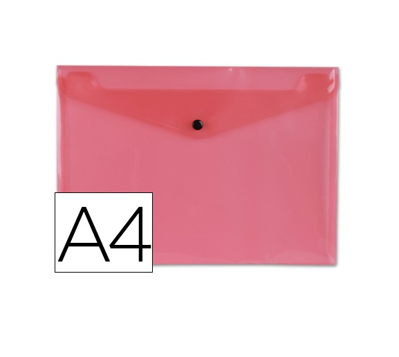 Bolsa Porta Documentos A4 c/ Mola Vermelho