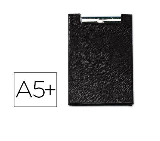 Porta Notas A5 c/ Mola Superior Preto (1/4)