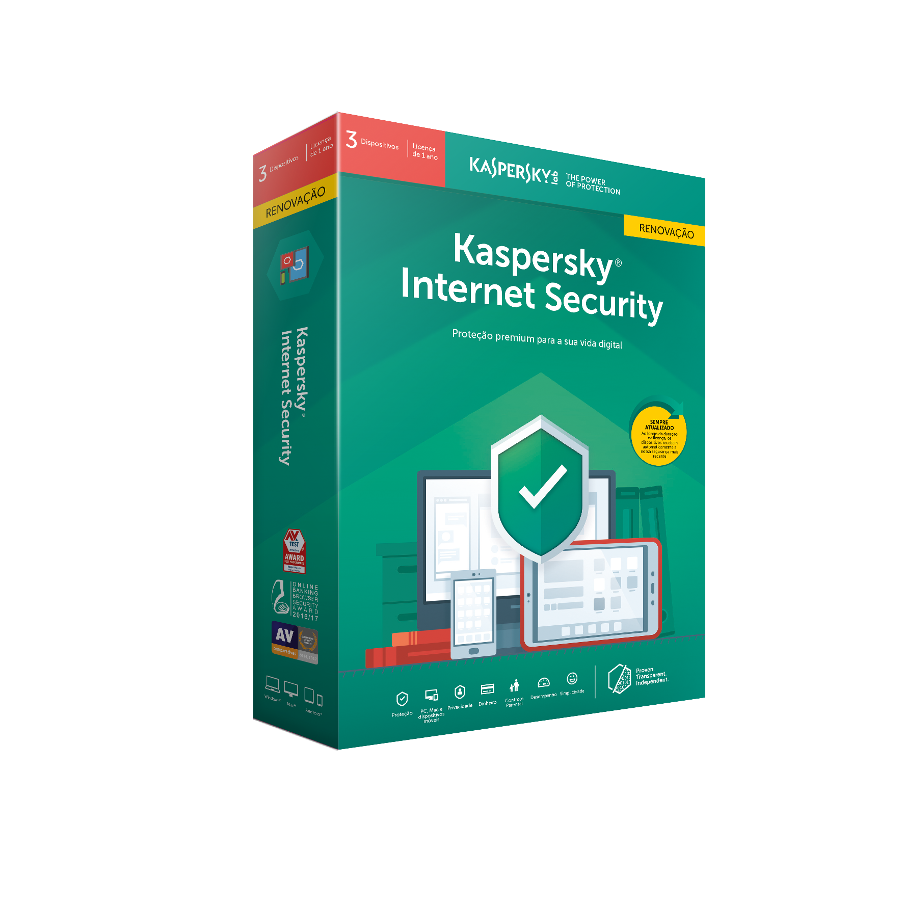 Kaspersky Internet Security 3 User Renewal 1 Ano