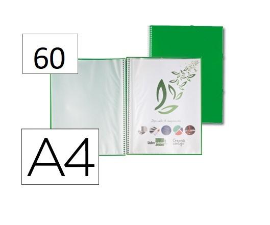 Capa Catalogo 60 Bolsas c/ Espiral Verde c/ Elastico