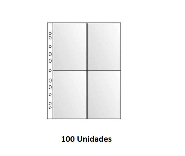 Bolsa p/ Postais 4 divisoes (pack 100) A4