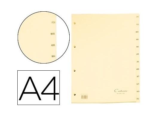 Separadores A4 Cartolina Jan-Dez