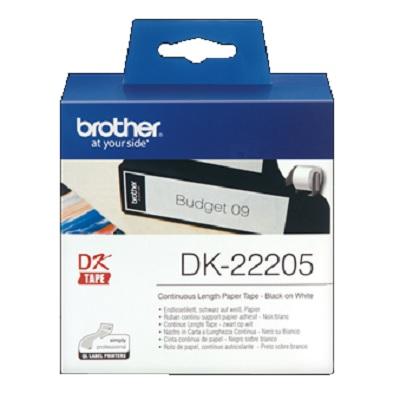 Etiquetas 62mmx30.48m Continuo DK22205