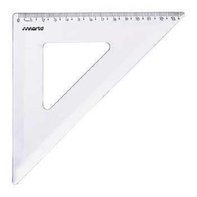 Esquadro 45º 21cm Cristal