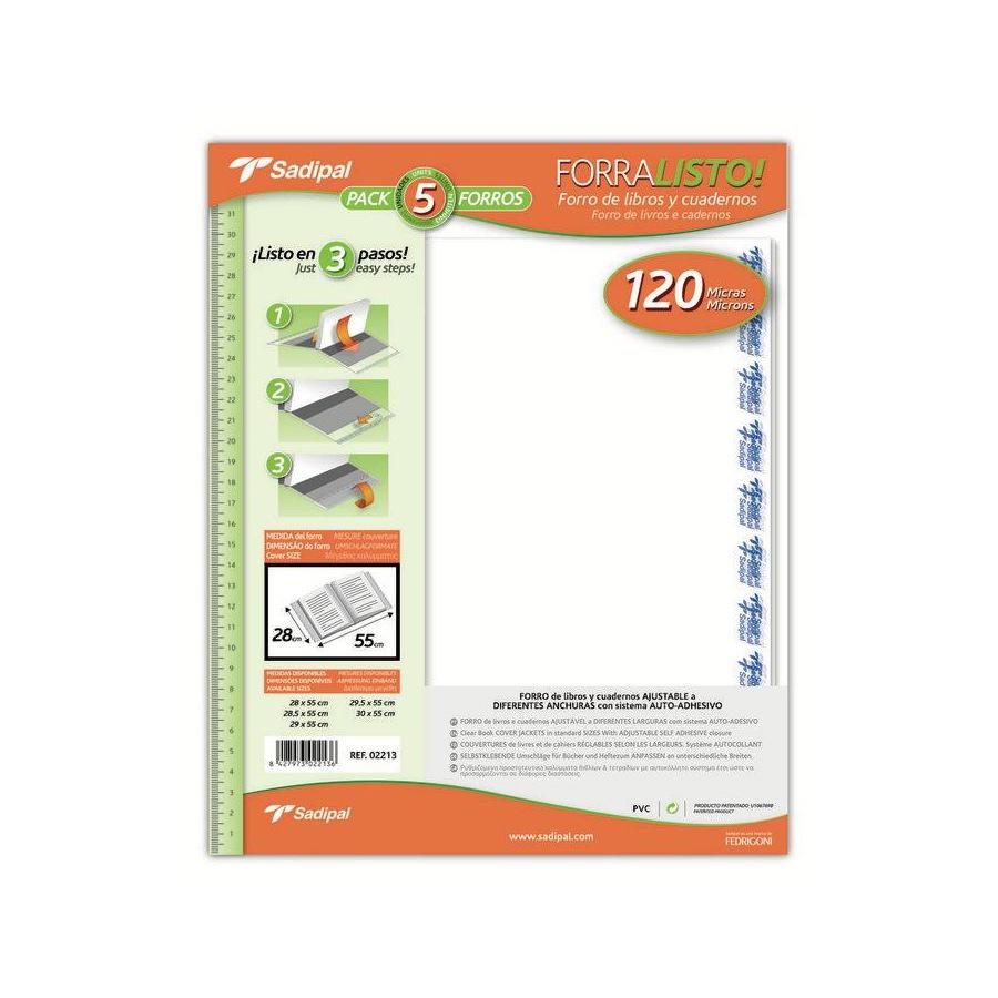 Bolsa de Protecção p/ livros escolares 290x550mm (Pack 5)