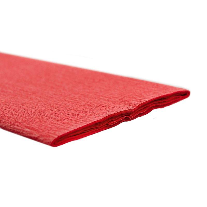 Papel Crepe Vermelho Vivo Rolo 0.5x2.5m