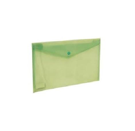 Bolsa Porta Documentos A4 c/ Mola Verde Transparente