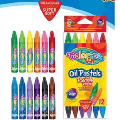 Pastel Oleo 12 Cores Triangular Colorino