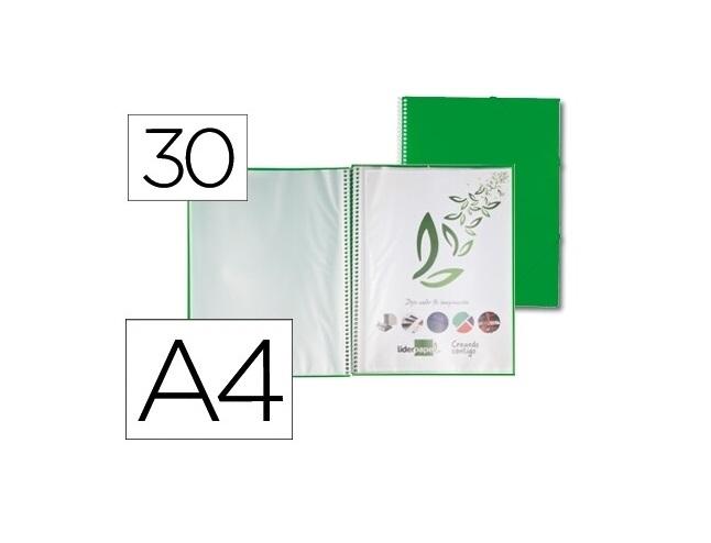 Capa Catalogo 30 Bolsas c/ Espiral Verde