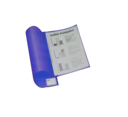 Dossier Plast. c/ ferragem Turquesa Durable
