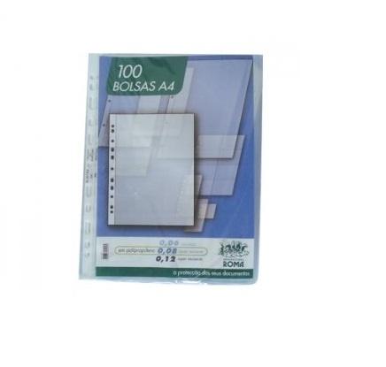 Bolsa Catalogo A4 120 microns (100un) Cristal Roma