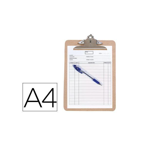 Prancheta Porta Notas A4 com Clip Superior