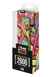 Carregador PowerBank TRUST 2600 Graffiti Arrows (20868)