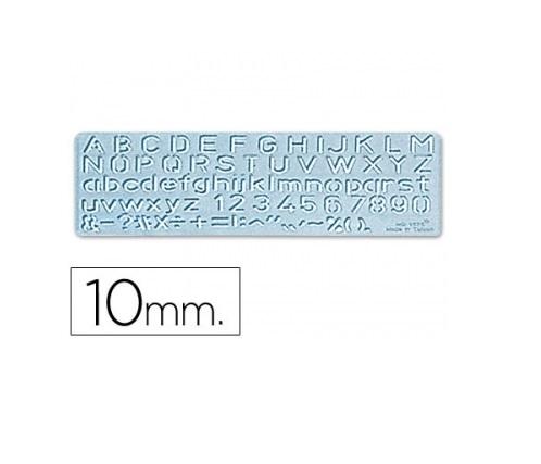 Escantilhao letras e numeros 10mm (altura da letra)