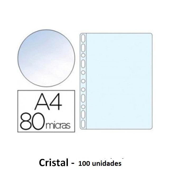 Bolsa Catalogo A4 80 microns (100un) Cristal