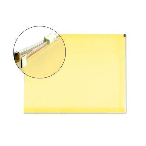 Bolsa Porta Documentos A5 c/ Fecho Zip Amarelo