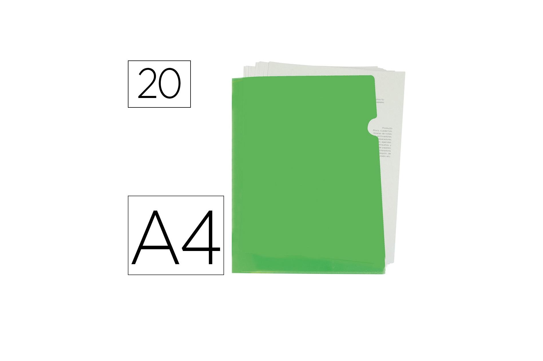 Bolsa em L A4 Verde Liderpapel