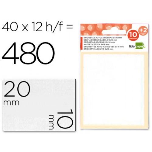 Etiq. Ad. 10x20mm (10+2fls) 480 Etiq.